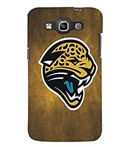 PrintDhaba Leopard Face D-5183 Back Case Cover for SAMSUNG GALAXY WIN i8552 (Multi-Coloured)
