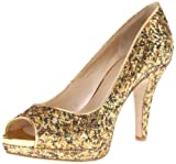 Nine West Women's Danee Pump,Gold/Gold Fabric,8 M US