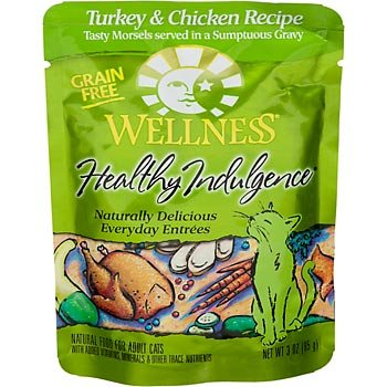 Wellness Healthy Indulge Turkey Wet Cat Food 24Pk