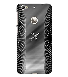 Fuson Premium Back Case Cover Aeroplane With pink Background Degined For Letv Le 1S