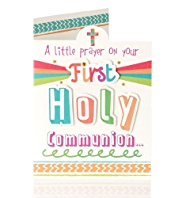 Bright 1st Holy Communion Card