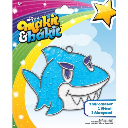 Colorbok TB-68607 Makit and Bakit Suncatcher Kit, Shark