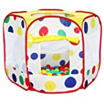 CHILDRENS KIDS SPOTTY COLOURED POP UP...