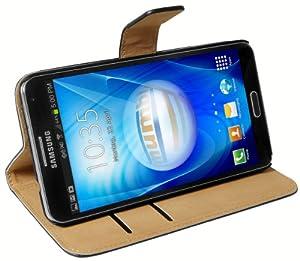 mumbi Tasche im Bookstyle für Samsung Galaxy Note 3 Tasche schwarz