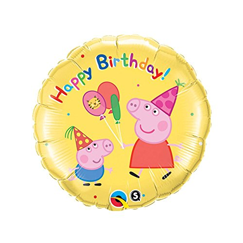 "Peppa Pig 18"" Mylar Foil Happy Birthday Balloon (1)"