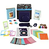 Fujifilm Instax Mini 8/8+ Instant Camera Bundle Gift Box: 10 Types of Accessories- PURPLE Mini 8/8 Plus Case, 2 Albums, Selfie Lens, 4 Color Filters, 5 Frames, 10 Wall Hang Frames, 60 Stickers & More