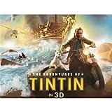 The Adventures of Tintin (19inch x 14inch / 47cm x 35cm) Silk Print Poster - Soie Affiche - 52E206...