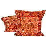 Ufc Mart Fine Applique Patchwork Cushion Cover 2pc. Set, Color: Multi-Color, #Ufc00494
