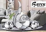 4Tlg-Groe-Moderne-Keramik-Skulptur-deko-Kchendeko-skulptur-Dekoration-silber