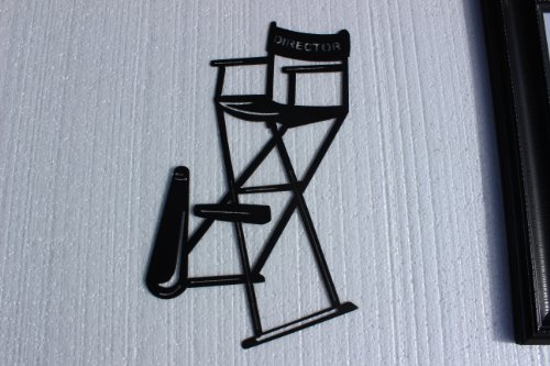 Home Theater Decor Metal Wall Art ~ Directors chair w horn quot home theater decor metal wall art