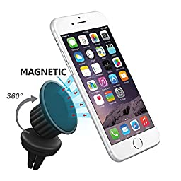 Magnetic Car Mount, eLander™ Air Vent Magnetic Universal Car Mount Holder with 360 rotate, Tilt, Swivel, for Iphone 6 6 Plus 5s 4s, Samsung Galaxy S6 S5 S4and Most of the Mobile Cell Smartphones