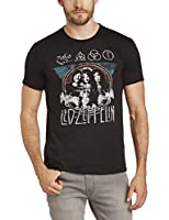 Live Nation Men's Led Zeppelin - Grunge Crew Neck Short Sleeve T-Shirt