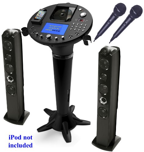 Singing Machine iSM-1028 X Pedestal CDG KARAOKE SYSTEM with 7 inch (7
