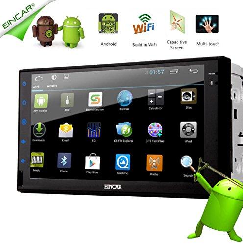 EinCar Android 5.1 GPS Navigator Car NO-DVD Player Stereo System Audio Car Radio FM AM MP4 Video Receiver Multimedia Universal 2 Din Autoradio Automotive Accessory Mirror link WiFi Internet Map Card