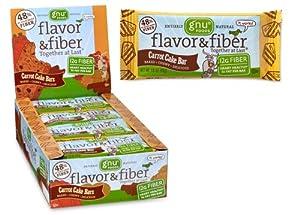 Gnu Flavor & Fiber Bars, Carrot Cake, 25.4 oz, 16 ct by GNU Foods