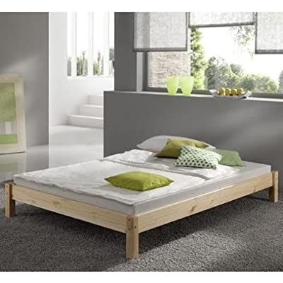 Kingsize Pine Bed 5ft (160cm) Studio Kingsize Bed Wooden Frame with extra wide base slats and centre rail - VERY STRONG