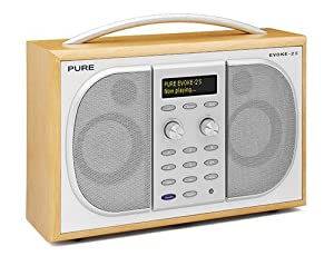 Pure Evoke 2S Luxury Portable Stereo DAB/FM Radio - Maple (discontinued by manufacturer)