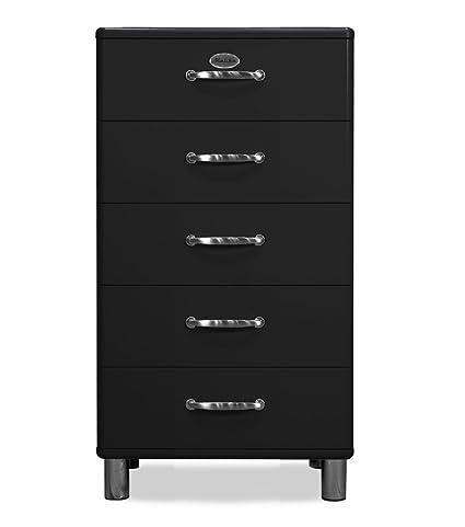 Tenzo 5215-033 Malibu - Designer Kommode, MDF lackiert, 111 x 60 x 41 cm, schwarz