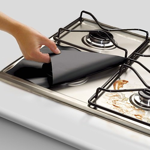 RL Treats Stovetop Burner Protectors - Set Of 4 Black (Aluminum Stove Burner Protectors compare prices)