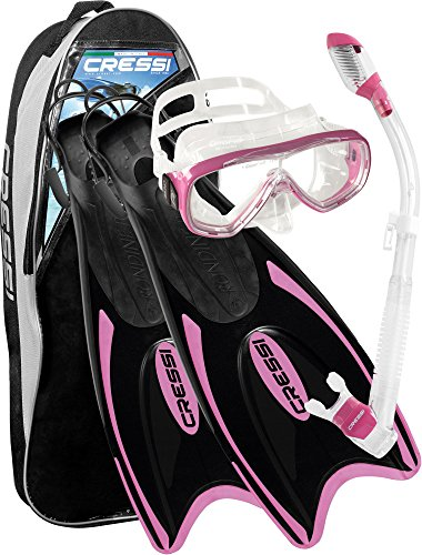 Cressi Light Weight Premium Travel Snorkel Set - Ultra Light