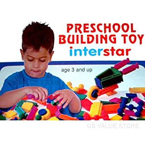 Building Blocks, Edushape Interstar Links And Blocks 50 Piece Set