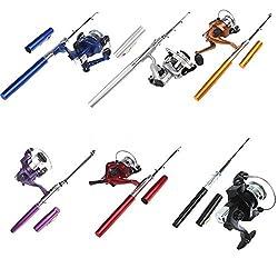 Mini HOT Aluminum Pocket Pen Fishing Rod Pole + Reel M5C1
