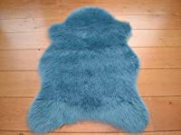 Duck Egg Faux Fur Sheepskin Style Rug (70cm x 100cm) from Rugs Supermarket