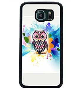 PrintDhaba Owl D-4540 Back Case Cover for SAMSUNG GALAXY S6 (Multi-Coloured)