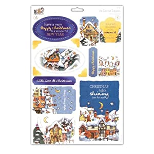 Michael Powell A4 Die-Cut Toppers - Christmas Lights