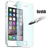 JETech® Apple iPhone 5/5S/5C Film Protection en Verre trempé écran protecteur ultra résistant Glass Screen Protector pour iPhone 5/5S/5C