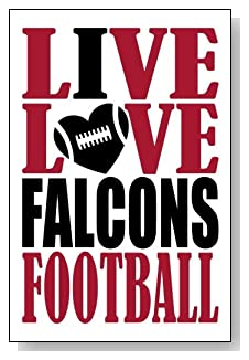 Live Love I Heart Falcons Football lined journal - any occasion gift idea for Atlanta Falcons fans from WriteDrawDesign.com