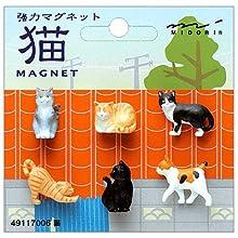 OJ ミニマグネット(6個入) 猫