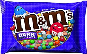 M&M'S Dark Chocolate Candies,  19.2 Ounce Packages (Pack of 4)