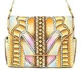Zimbelmann Damen Umhängetasche Damentasche aus echtem Leder - Nappaleder - handbemalt - Lara