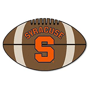 FANMATS NCAA Syracuse University Orange Nylon Face Football Rug by Fanmats