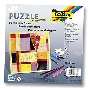 Puzzle aus Pappe mit Legerahmen Set - inkl. 25 stabilen Puzzleteilen zum selbst Bemalen - ca. 21 x 21 cm - PORTOFREI - Hochzeitsspiel und Hochzeitsgeschenk zum selbst Gestalten