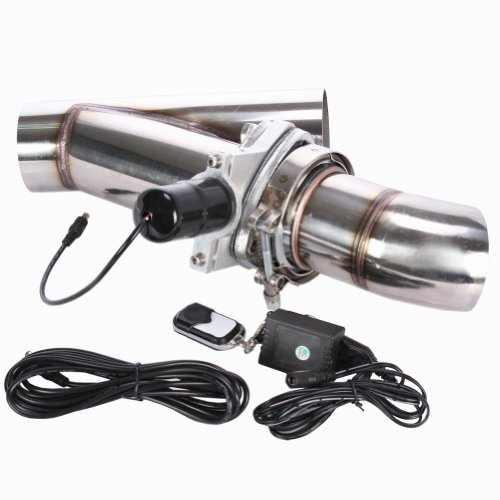 "Eteyo 3 Inch Exhaust Cutout 3"" Electric Dump Y-Pipe Cat Back Turbo Bypass Stainless Steel"