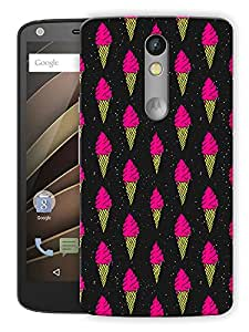 "Humor Gang Ice Cream Cone Love Neon Printed Designer Mobile Back Cover For ""Motorola Moto X Force"" (3D, Matte, Premium Quality Snap On Case)"