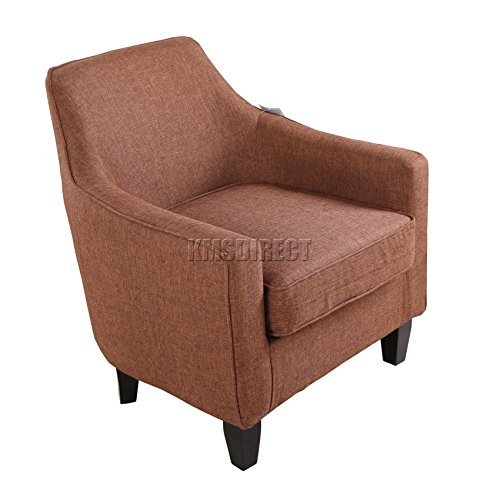 Buy Cheap FoxHunter Linen Fabric Tub Chair Armchair Dining Living ...