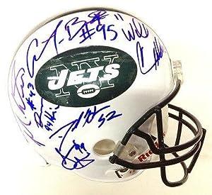 New York Jets Team Signed Full Size Helmet Rex Ryan by Sports Memorabilia
