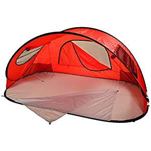 Picnic at Ascot Extra Large Instant Easy Beach Tent Sun Shelter - Red Red - Picnic at Ascot Outdoor Accessories
