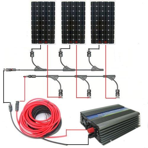 ECO-WORTHY 500w Complete Kit:3pcs 160w 12v Monocrystalline Solar Panels&500w Grid Tie Inverters (Grid Tied Inverter compare prices)