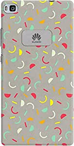 DailyObjects Confetti Red Case For Huawei Ascend P8