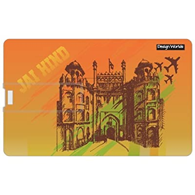 Design worlds 16GB Credit card Shape Pendrive Jai Hind Multicolor
