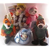 Disney Bean Bag Plush Robin Hood And Friends Set Of 5