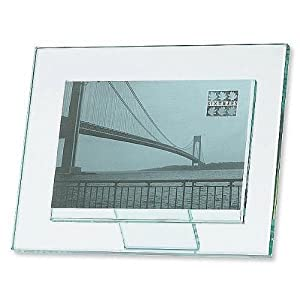 sixtrees beveled glass photo frame 4in x 6in