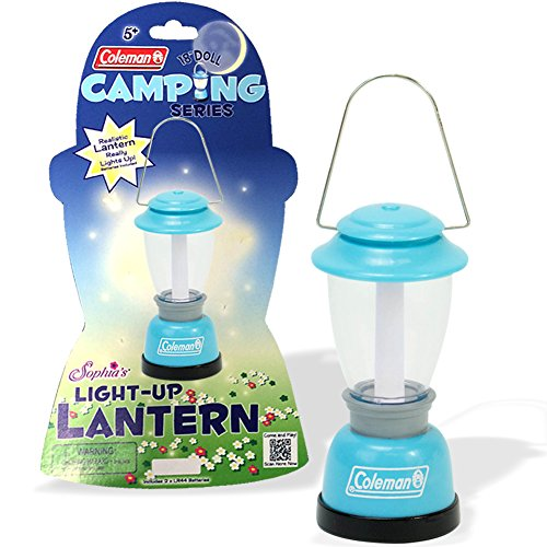Aqua Coleman® Doll Lantern Accessory by Sophia's, Perfect for the 18 Inch Camping American Girl Dolls & More! 18 Inch Doll Lantern in Aqua Licensed By Coleman®, Doll Items of 18 Inch Doll House Furniture