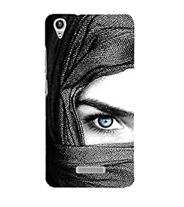 Vizagbeats Blue Eye Lady Back Case Cover for Lava Pixel V1