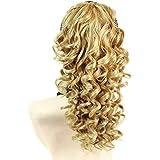 Spiral Curly Hair Piece Blonde mix Ponytail Irish Dance Extension
