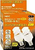 NEC コスモボールミニ ミニクリプトン40W相当 E17口金 RELAX色 2個パック EFD10EL/7-E17-C2C-2P <32538>